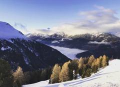 Vue des montagnes de Valfréjus