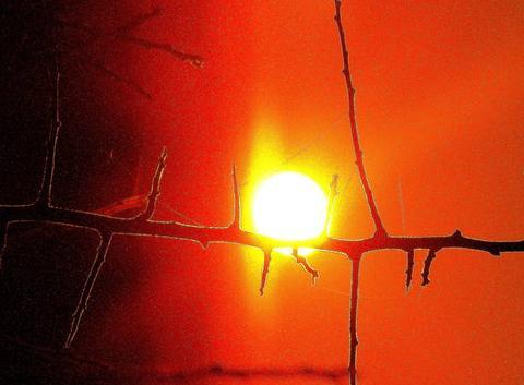 Coucher de soleil......