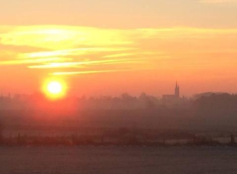 Le soleil se lève par moins 8 degrés