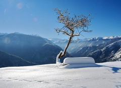 Enfin la neige à Melles