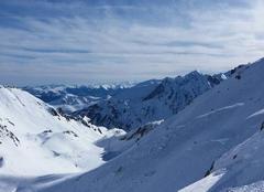 Vue panoramique des Pyrénées depuis Barèges la Mongie