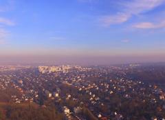 Pique polution Paris vue des Yvelines