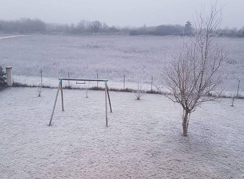 Neige industrielle dans l'Orléanais