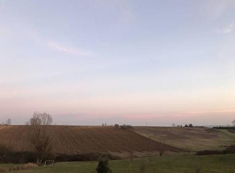 18h00 ciel aux couleurs pastels -1 degré