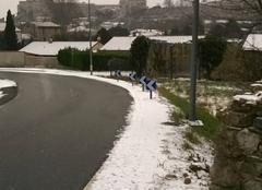 Neige à La Voulte sur rhône en Ardèche