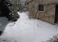 Neige en vallée du Rhône
