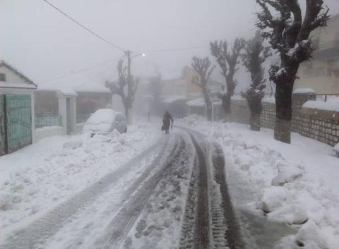 Neige à Ain Drahem