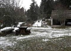 Neige Ribennes 48700 Le peu de neige restant de l'épisode de jeudi