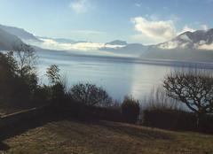 Soleil sur le lac du Bourget