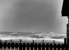 Arrivée de la grosse houle sur la côte du Médoc (Hourtin)