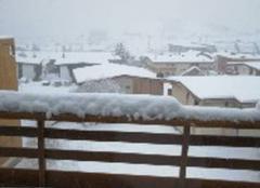 Neige en continue depuis ce matin