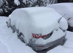 Neige dans les Alpes!