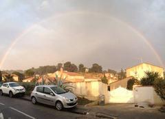 Arc-en-ciel sur Marseille
