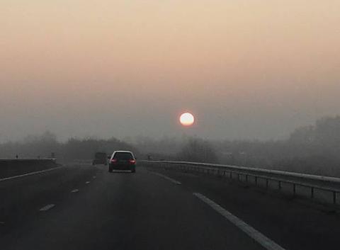 Lever du soleil sur l'A10