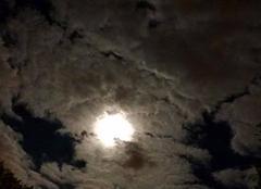 La nuit de l'éclipse de lune et comète