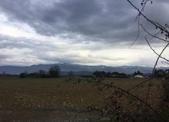 Impressionnants nuages sur la chaîne du Vercors cet après-midi