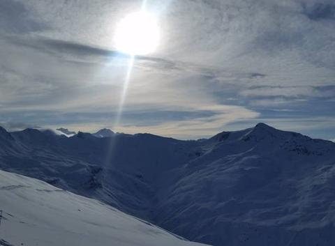 Magnifique station ski