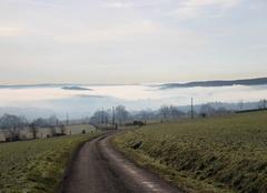 Mer de brume sur la Suisse normande