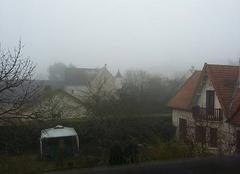 Brouillard dense sur Osny ce samedi matin