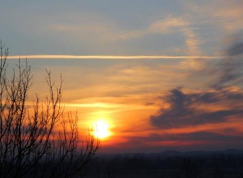 Lever de Soleil le Samedi 19 février à St Lézer.