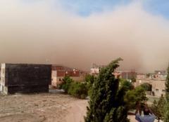 Tempête El Bayadh Un mur de sable