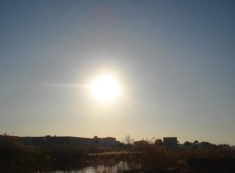 Ciel bleu et beau soleil