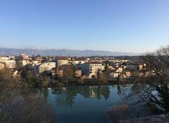 Grand soleil sur les berges de  l'Isère