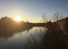 Coucher du soleil sur les quais