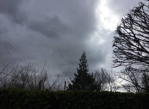 Nuages menaçants en ce début d'après-midi
