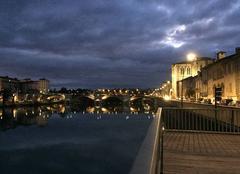 Quais d'Isère ce soir sous impressionnants nuages -  18:45