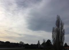 Le ciel se couvre avec le vent du sud