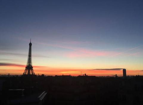 Paris orange et rose