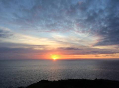 Lever de soleil, pointe de Minard, Plouézec