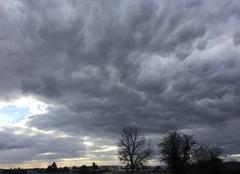 Impressionnants nuages hier après-midi