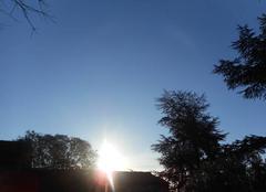 Ciel   bleu  ....mais   0 °  degré....