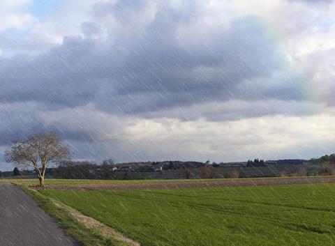 Région lyonnaise sous la pluie