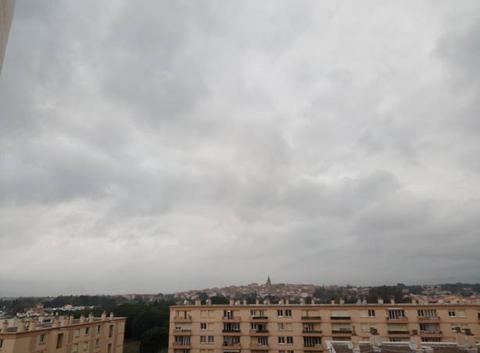 Bonsoir le ciel et couverts actuellement