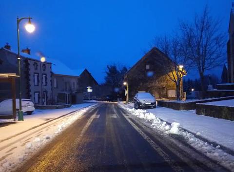 La neige est de retour ce matin !
