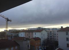 Ciel nuageux à Lyon