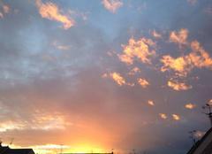 Ciel Bonchamp-les-Laval 53960 Coucher de soleil orangé