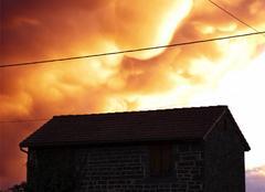 Coucher de soleil apocalyptique