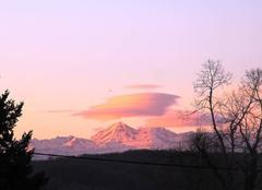 Ciel de ce matin mercredi 1 mars 2017 sur les Pyrénées à 8 h 30.
