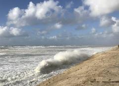 Tempête Biscarrosse 40600 L'inexorable recul de la dune