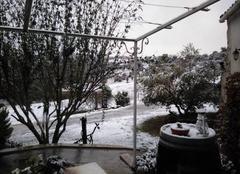 Climat Limoux 11300 Ce matin, le réveil est blanc...