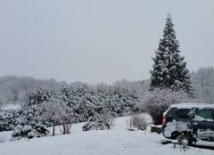 Neige Fernoel 63620 Joli spectacle à Villevassoux