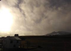 Nuages Bulle Lever du soleil après la neige