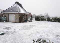 Neige Saint-Denis-du-Behelan 27160 De la neige enfin !!