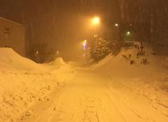 Neige Huez 38750 Tempête de neige