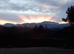 Lève de soleil en Haute Savoie