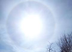 Ciel Meigne 49700 Halo solaire